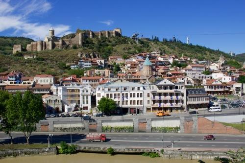 Narikala Fortress overlooking Old Tbilisi