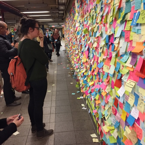 Subway Therapy wall in Union Square station